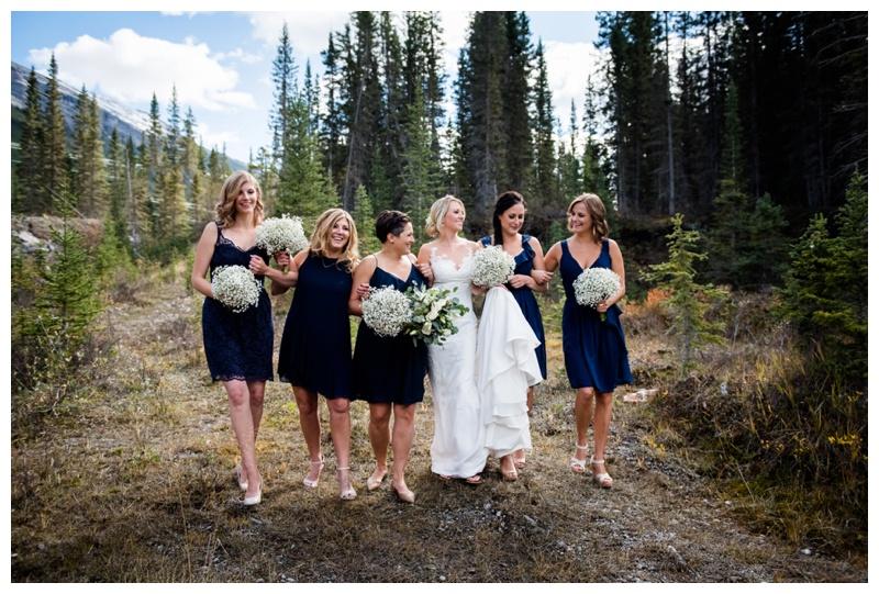 Bridesmaid Wedding Party Photos Canmore