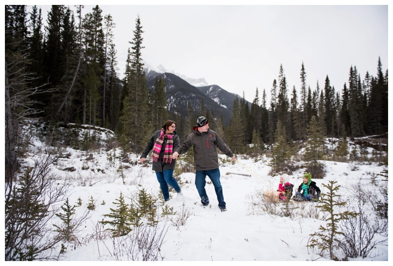 Canmore Winter Family Photos