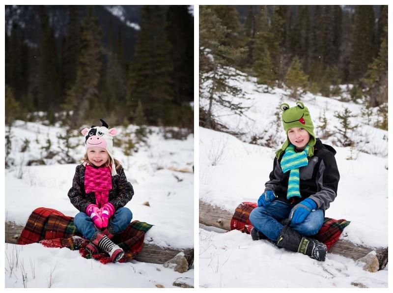Winter Family Photos Canmore