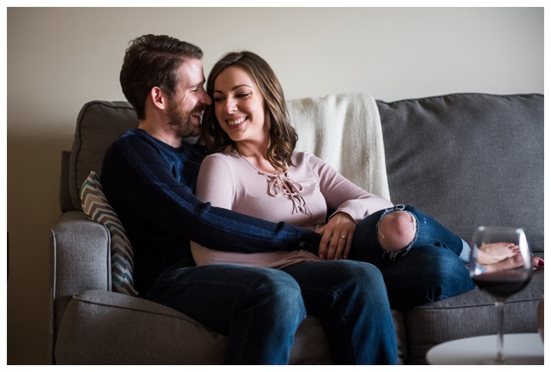 In Home Engagement Photography