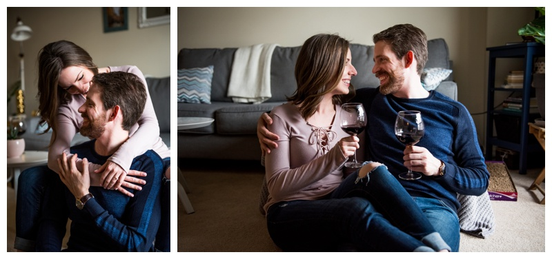 Calgary At Home engagement Session