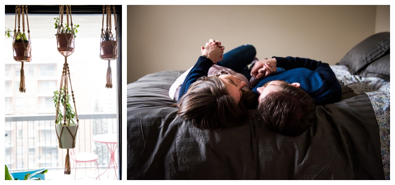 In Home Engagement Photography Calgary