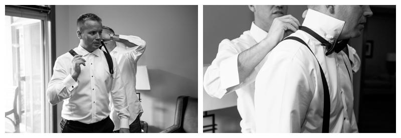 Canmore Groom Prep Wedding Photos