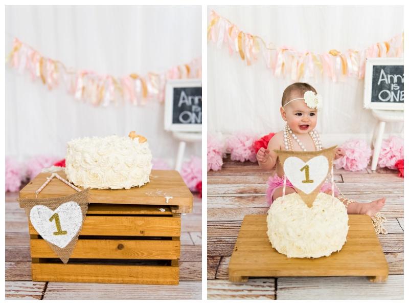 First Birthday Cake Smash Photography