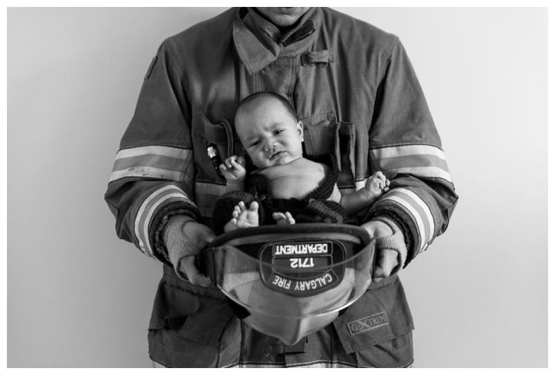 Calgary Fire department Newborn Photo
