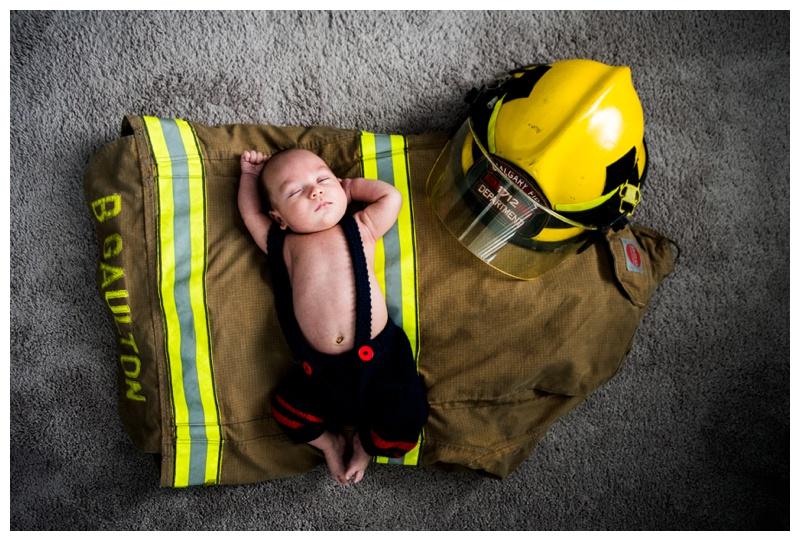 Newborn Firefighter Photos Calgary