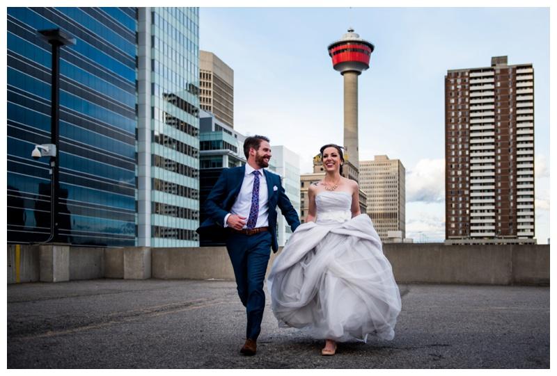 Calgary Tower Wedding Photography