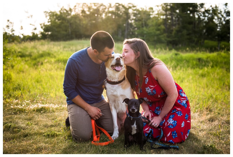 Calgary Engagement Photos With Dogs