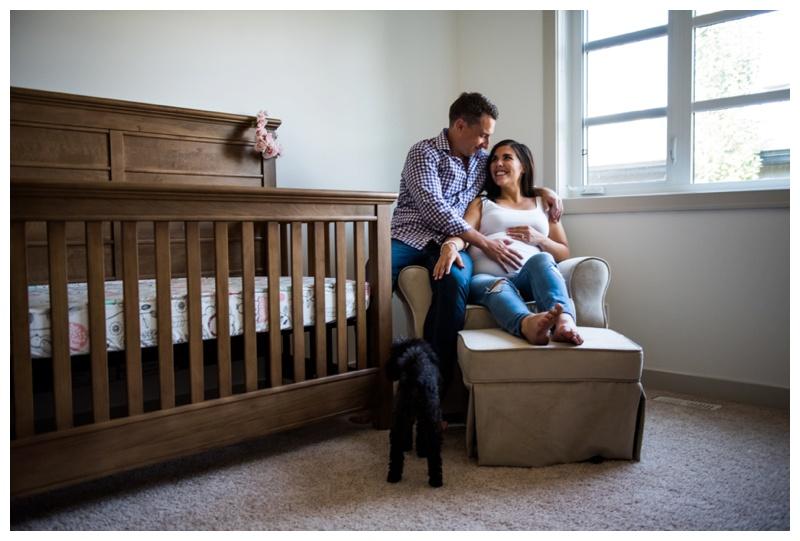 At Home Maternity Photo Session Calgary