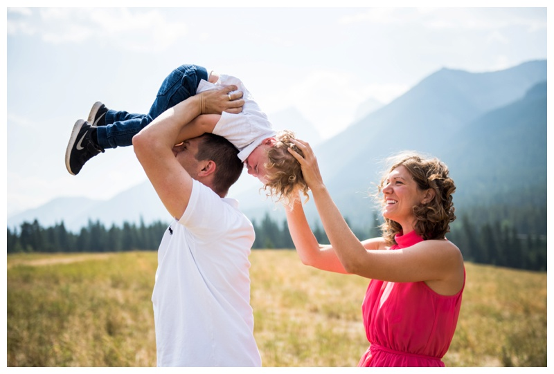 Candid Canmore Family Photos