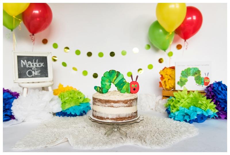 Calgary Cake Smash Photography - The Very Hungry Caterpillar