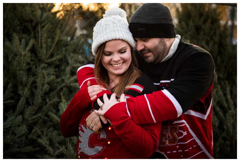 Calgary Flames Themed Engagement Session