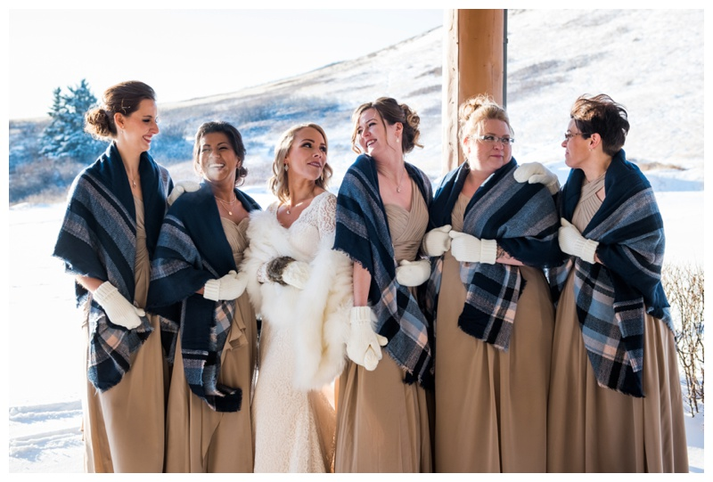 Cochrane Wedding Photographers - Winter Bridesmaids
