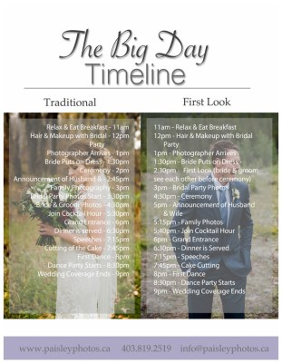 Tips for Planning the Perfect Wedding Day Timeline