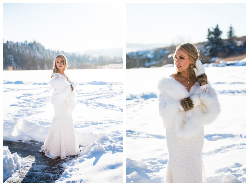 Winter Bride - Calgary Alberta