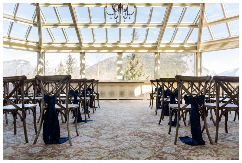 Banff Fairmont Conservatory Wedding
