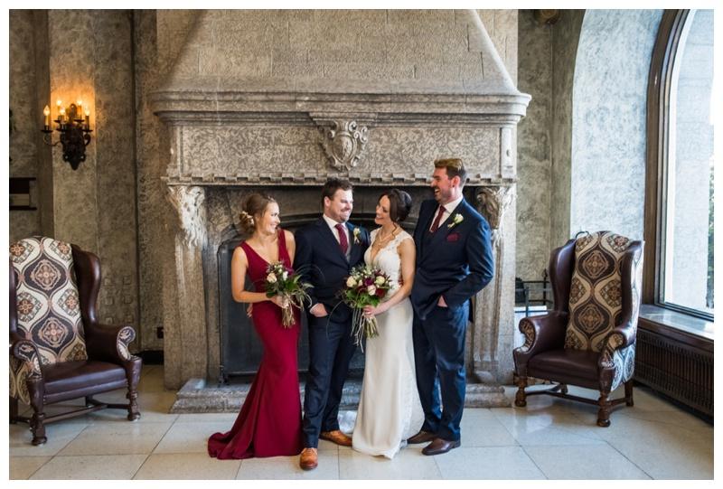 Banff Spring Wedding Party Photos