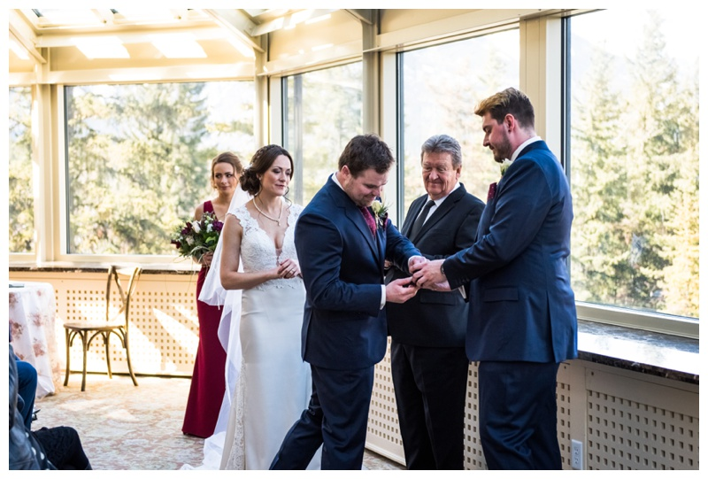 Banff Springs Resort Wedding Ceremony - Banff Springs Conservatory