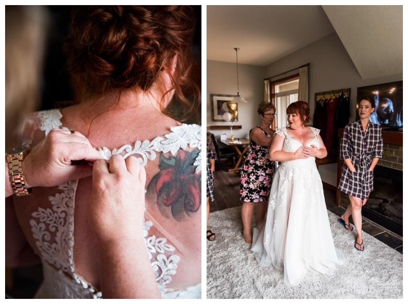 Bride Getting Ready Photography Canmore