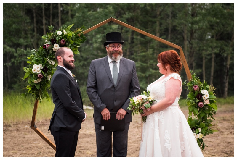 Canmore Rundle View Park Wedding