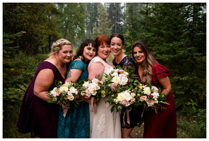 Canmore Wedding Photography - Bridesmaid Phtography