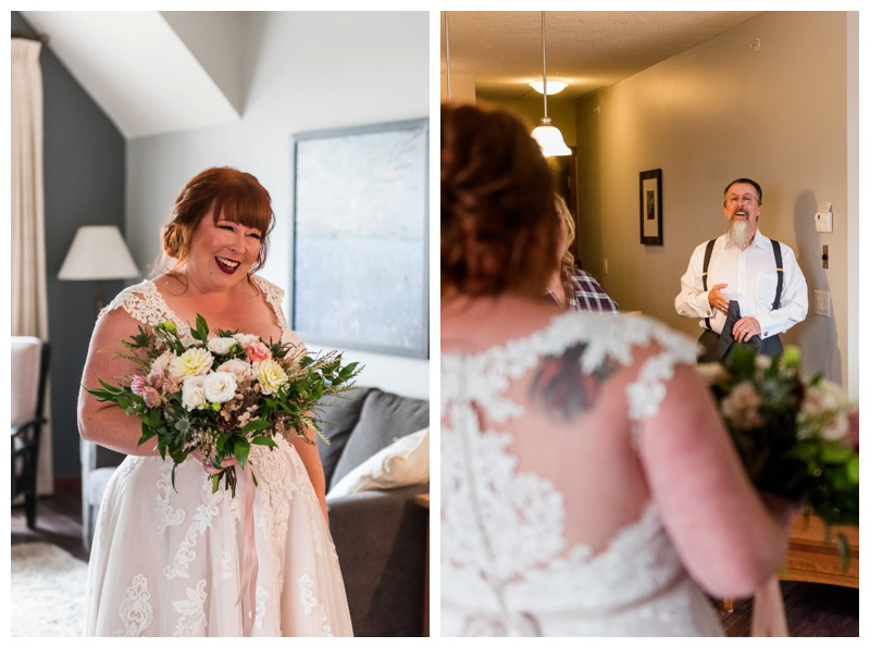 Father Daughter First Look - Canmore Wedding