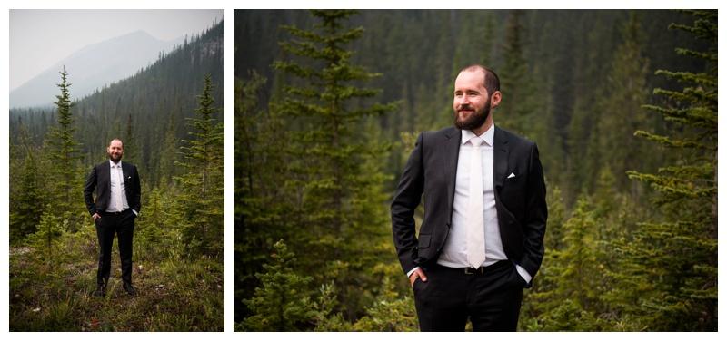 Groom Portrait - Canmore Wedding Photographer