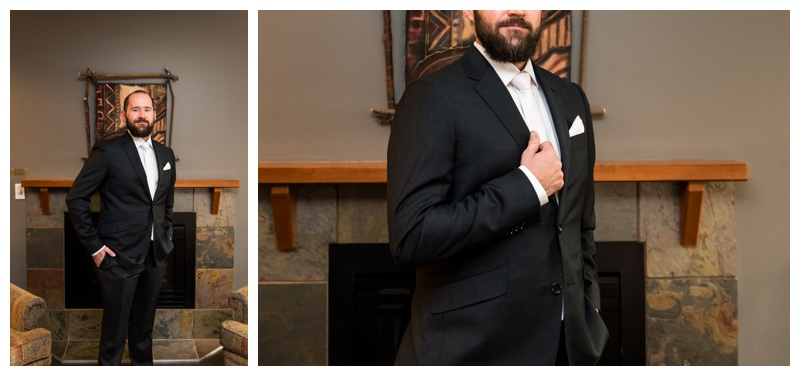 Groom Portraits Canmore Wedding