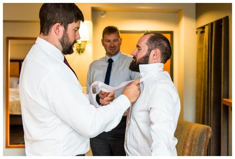 Groom Prep Wedding Photos - Canmore Alberta