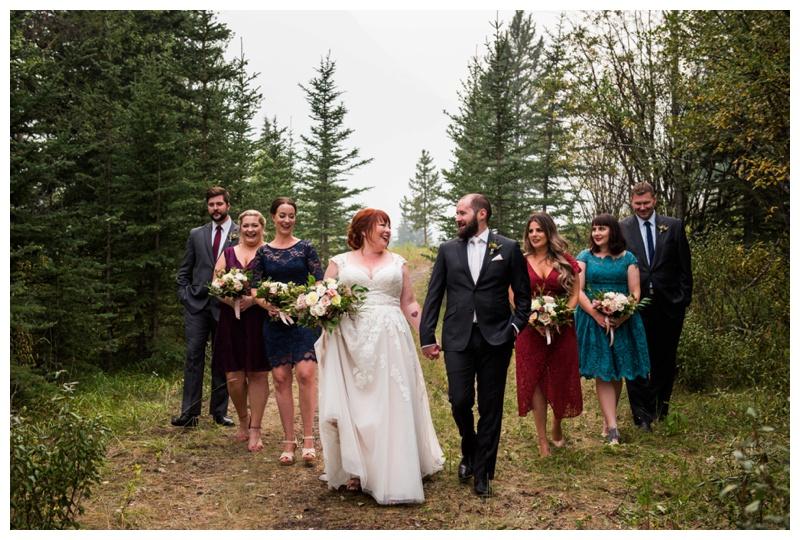 Wedding Party Photos - Canmore Wedding