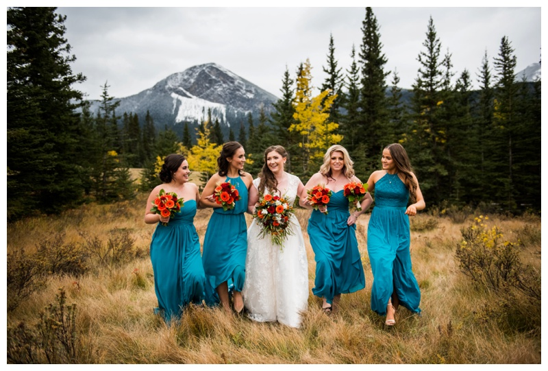 Canmore Mountain Wedding - Bridesmaid Wedding Photography