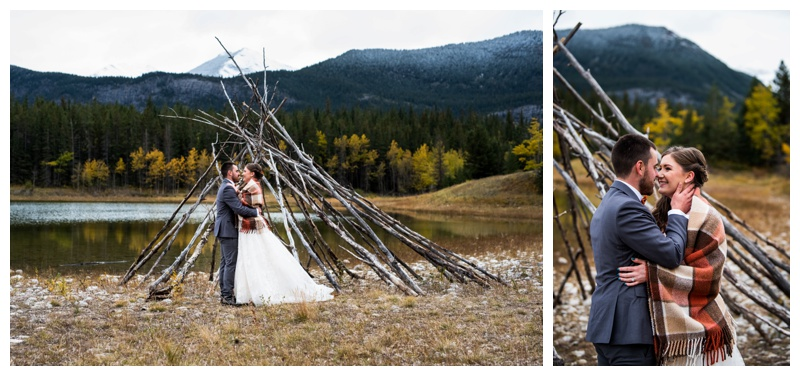 Canmore Mountain Wedding - Middle Lake Alberta