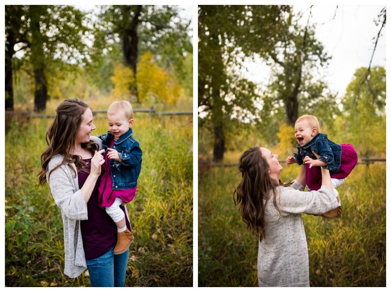 Fall Pearce Estate Park Family Photography Calgary