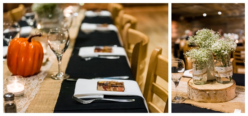 Fall Reception Decor - Cornerstone Weddings