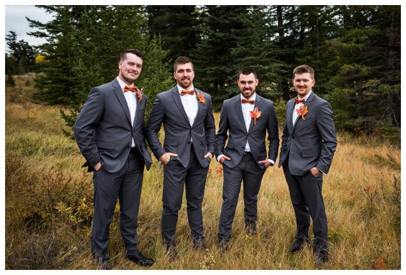 Groomsmen Photography - Canmore Alberta