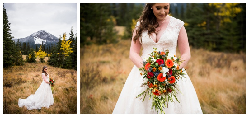Mountain Bridal Portrait Canmore Alberta