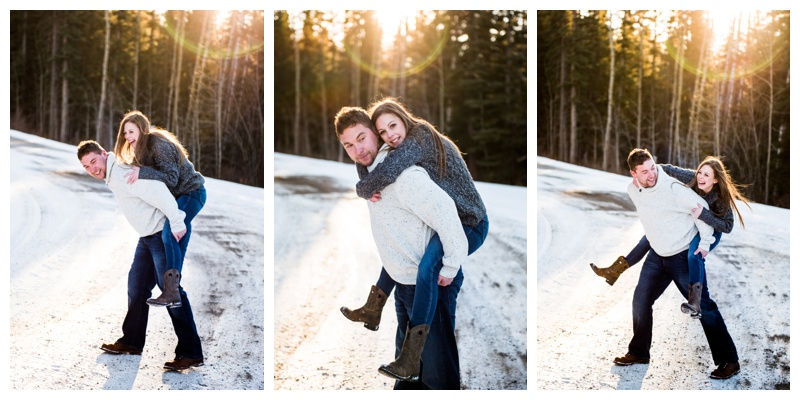 Calgary Winter Engagement Photography