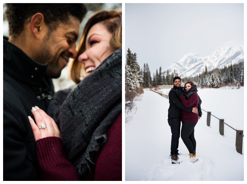 Cozy Winter Campfire Engagement Session