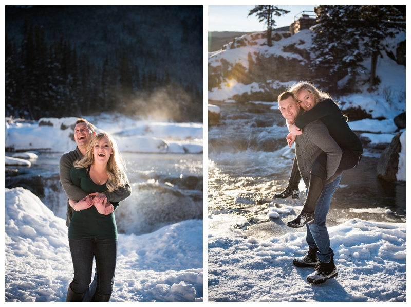 Elbow Falls Engagement Photogaphy
