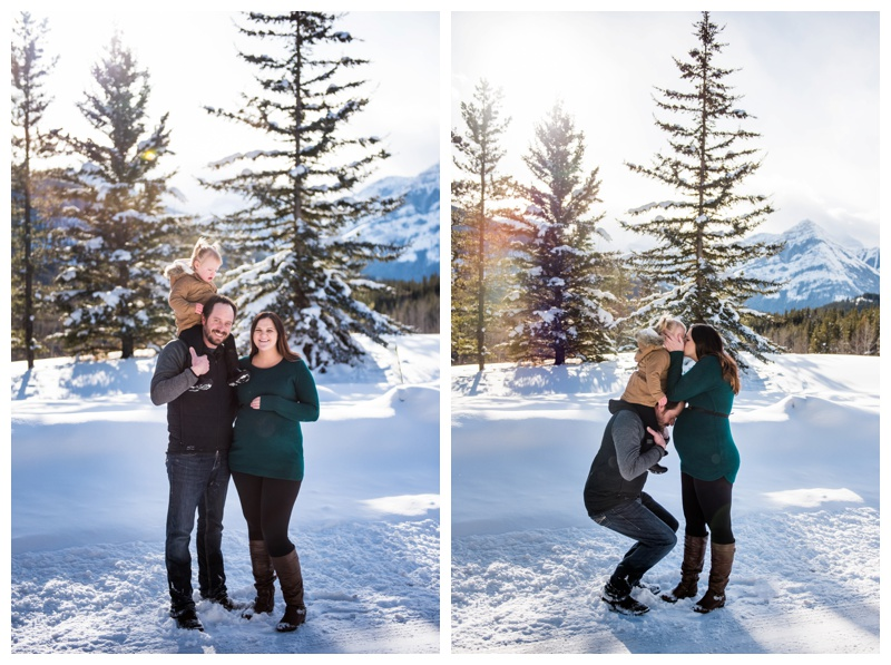 Family Maternity Photos Canmore