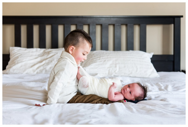 Sibling Newborn Photography Calgary