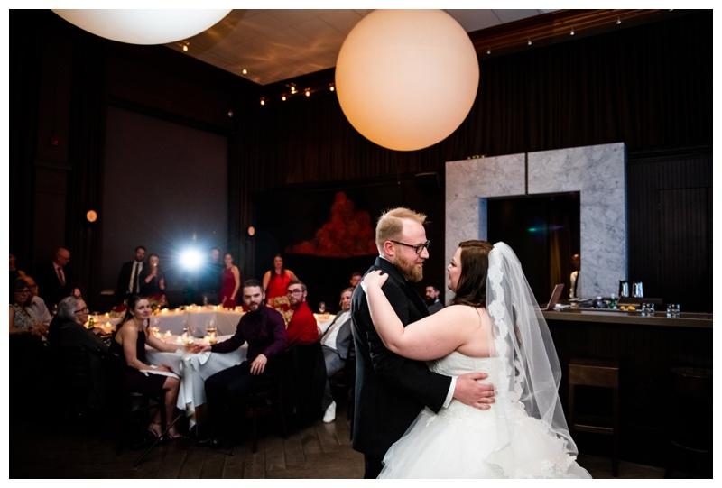 Calgary Alberta Teatro Restaurant Wedding Reception Photographer