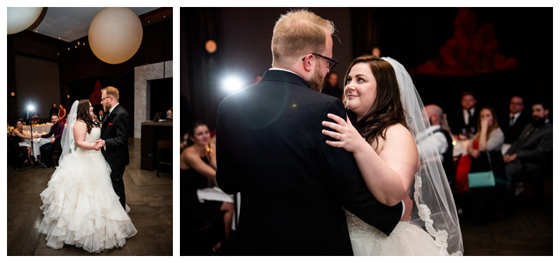 Calgary Alberta Teatro Restaurant Wedding Reception Photography