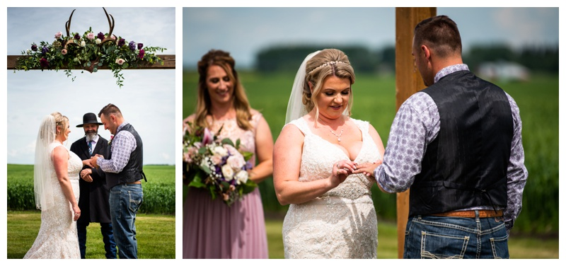 Olds Willow Lane Barn Wedding Ceremony Photographer