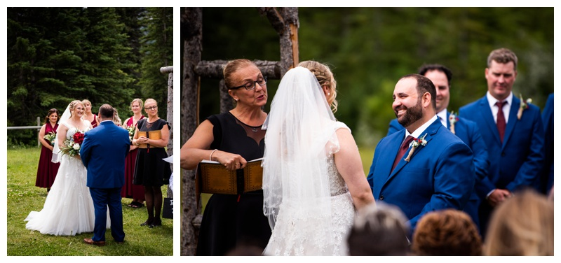 Canmore Ranch Wedding Ceremony Photographer