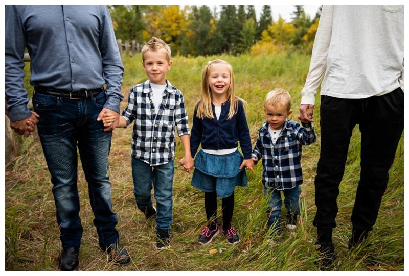 Calgary Fall Fish Creek Park Family Session