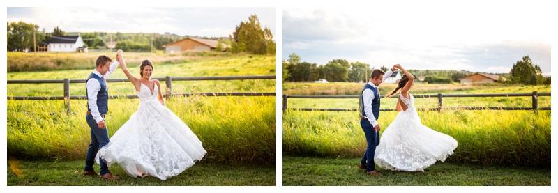 Calgary Sunset Wedding Photographer