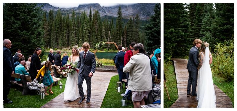 Fernie BC Island Lake Lodge Wedding Ceremony