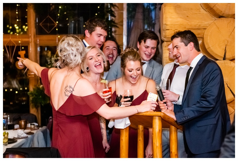 Fernie Island Lake Lodge Wedding Reception Photographers