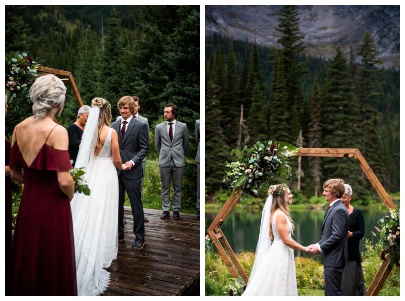 Island Lake Lodge Wedding Ceremony Fernie